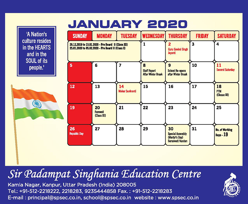 planner spsec 6 to 12-jan-2020