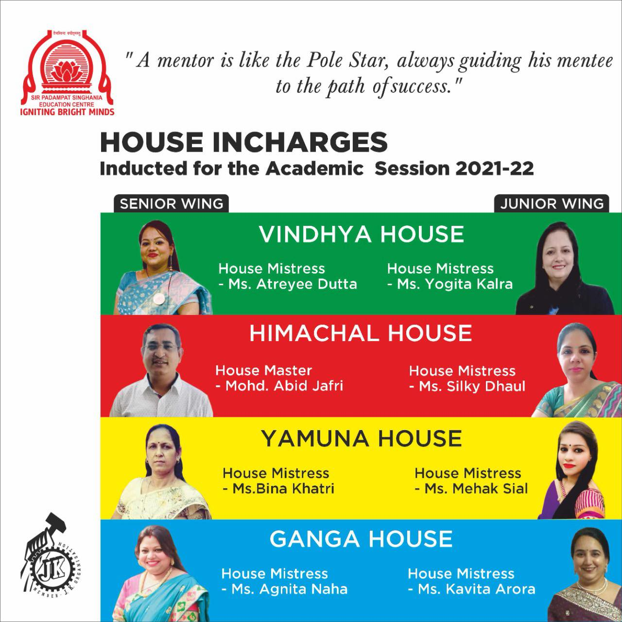 House Incharges