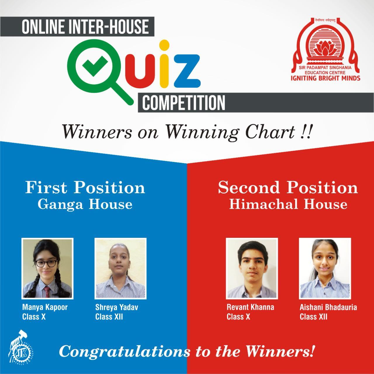 Online InterHouse Quiz